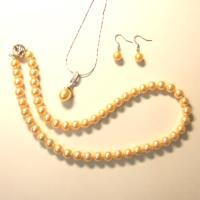 小樂珠寶~耀眼奢華-獨家設計款3A南洋深海貝珍珠套組(二色可選)