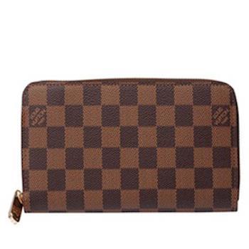 LV N60015 經典棋盤格拉鍊長夾