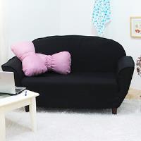 【IDeng】諾薇亞雙人座沙發(黑)