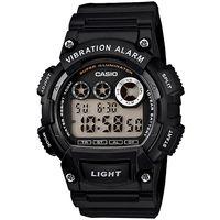 CASIO 靜音振動數位電子腕錶(黑)