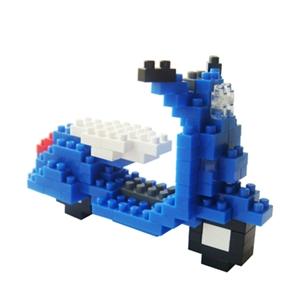 【TICO 微型積木】偉士牌機車(藍)-任