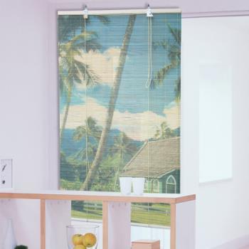 棉花田【鄉間】彩色天然竹捲簾(90x160cm)