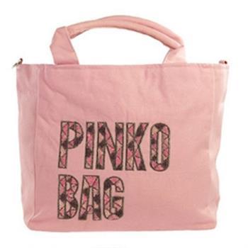 PINKO 帆布LOGO手提/斜肩背包(粉紅) N06-rosa