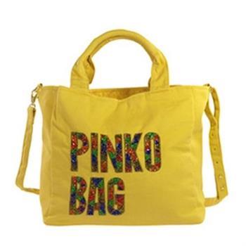 PINKO 帆布LOGO手提/斜肩背包(黃色)H44-giallo