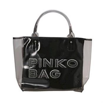 PINKO夏日黑色透明水晶包 12D035-transparent