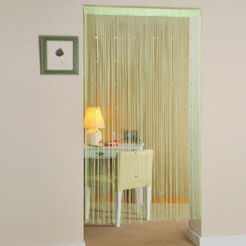 棉花田【晶亮】串珠造型線簾-蘋果綠(90x180cm)