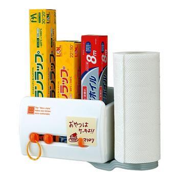 【促銷】日本inomata磁吸式多功能置物盒+紙巾架