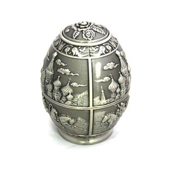 PUSH!餐具 俄羅斯彩蛋錫製牙籤盒牙籤罐牙籤瓶蛋形牙籤筒桶