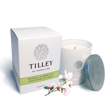 Tilley百年特莉 木蘭花綠茶香氛大豆蠟燭250g