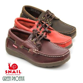 SNAIL 厚底帆船鞋.休閒鞋(女生款)-咖啡/棕/紅