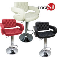 【LOGIS】2入狄尼洛吧台椅/吧檯椅/高腳椅/皮椅LOG-228
