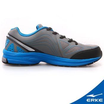 【ERKE爾克】男性運動常規慢跑鞋-鋼灰/碧藍