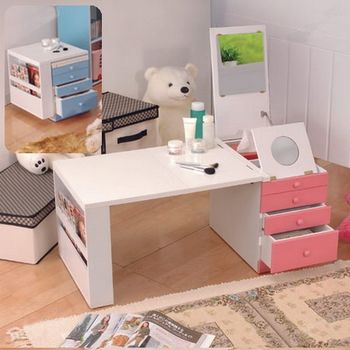 【C&B】第二代折疊和室掀鏡化粧書桌