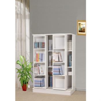 【好傢俱】全新小尺寸日式雙排活動書櫃-白