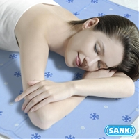 SANKI 薰衣草風印花冰涼床墊90x140Cm+枕墊