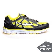 【ERKE爾克】男運動綜訓慢跑鞋-碳灰/果綠
