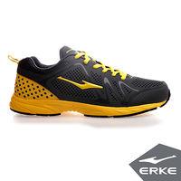 【ERKE爾克】男運動常規慢跑鞋-青銅灰/金黃