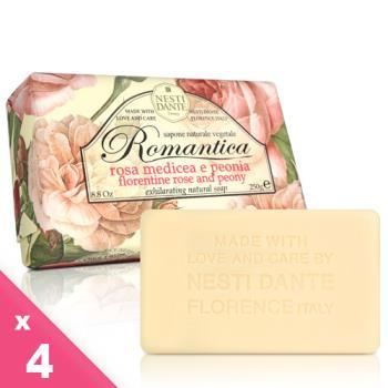 Nesti Dante  義大利手工皂-愛浪漫 生活風系列-佛羅倫斯玫瑰和牡丹(250g)-4入