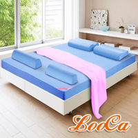 LooCa 吸濕排汗釋壓12cm記憶床墊全配組雙人24