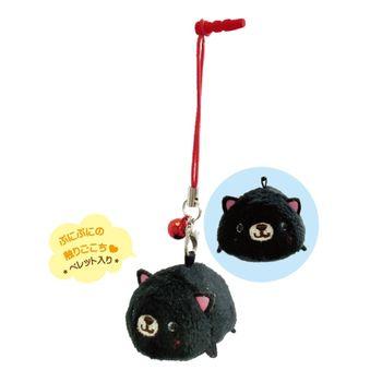【UNIQUE】動物樂園掌心沙包公仔螢幕擦 小黑貓
