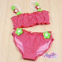 【天使霓裳】小花點點色塊卡哇伊小童泳裝系列(共3色)-QF1288