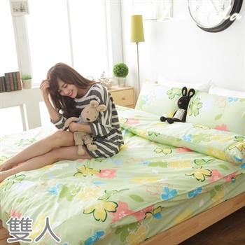 【La Veda】櫻之語 綠雙人四件式兩用被床包組