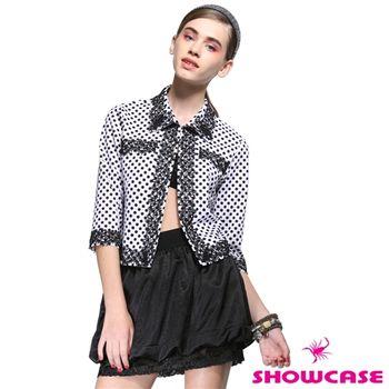SHOWCASE 普普風蕾絲圓點點七分袖外套-141653