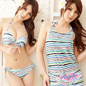 【天使霓裳】Summer甜心三件式鋼圈比基尼泳裝RG1249淺藍