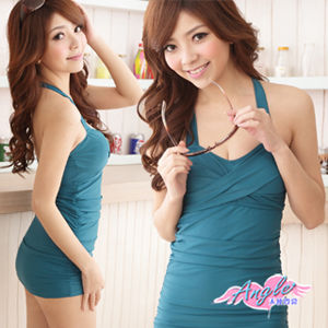 【天使霓裳】夏威夷之戀 一件式連身泳衣SQ3023綠