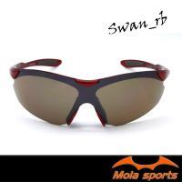 MOLA SPORTS 摩拉運動太陽眼鏡 男女可戴 超輕 UV400 高爾夫 騎車 跑步- Swan_rb
