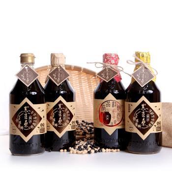 黑豆桑 迷你四大天王組(金豆+缸底醬油+黑金醬油+紅麴醬油)