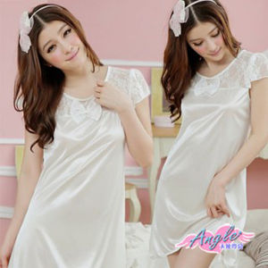【天使霓裳】專屬調配 甜蜜滿分輕柔睡衣(白)NA6217