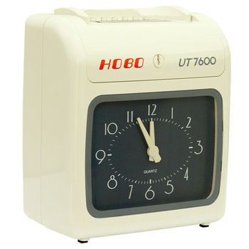 HOBO 六欄位撞針式微電腦打卡鐘UT-7600N