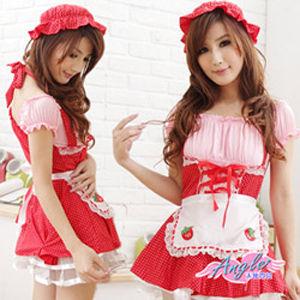 【天使霓裳】草莓甜心 女僕 角色扮演 多件組KM1121紅