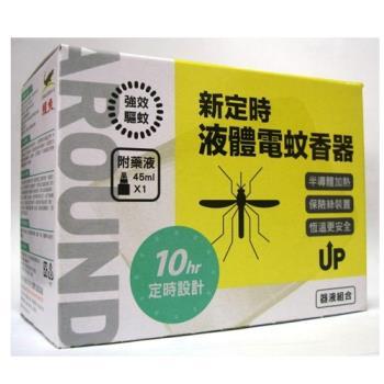 新鱷魚定時電蚊香器液組合白色4盒/1組