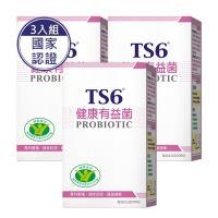 TS6-國家健康食品認證 健康有益菌(30包)X3盒