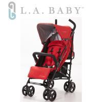 L.A. Baby 美國加州貝比 時尚輕便嬰兒手推車(紅色)