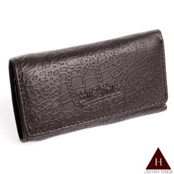 【H-CT】鱷魚紋三折式真皮鑰匙包(KW857A-Z)
