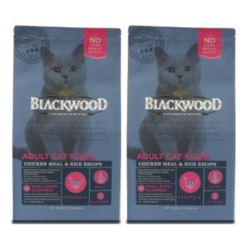 【Blackwood】柏萊富 特調成貓亮毛配方(雞肉+米)4磅 X 2包