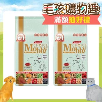 Mobby莫比 愛貓無榖配方 貓飼料 鹿肉+鮭魚 1.5kg*2包