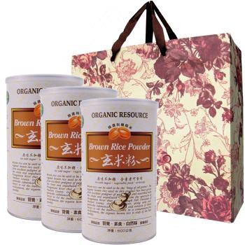 【台灣綠源寶】玄米粉500g/罐x4罐組