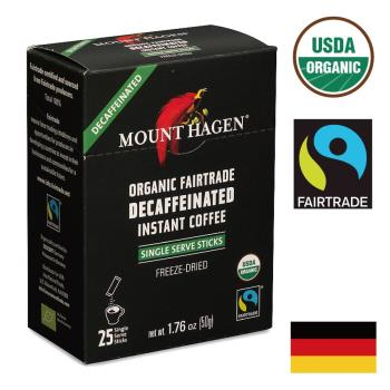 【Mount Hagen】有機低咖啡因即溶咖啡粉(2gX25包)