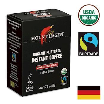【Mount Hagen】德國進口 有機即溶咖啡粉(2g x 25包)