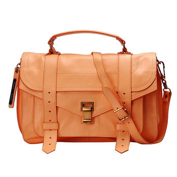Proenza Schouler PS1 Medium山羊皮手提斜背包(中-杏桃橘)H00002-7025-APRICOT