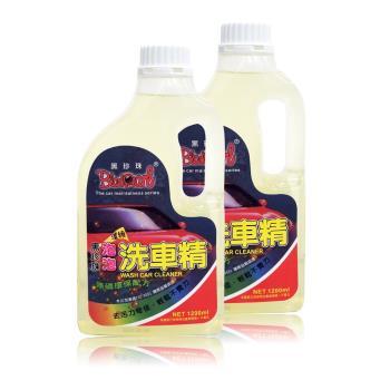 黑珍珠濃縮泡泡洗車精1200ml 二入 (洗車/車用/汽車/清潔/保養)