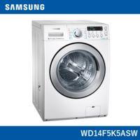 Samsung 三星【WD14F5K5ASW/TW】14KG噴射瀑布水流 洗脫烘滾筒洗衣機-亮麗白