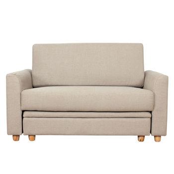 【AHOME】Choice巧依思雙人布沙發+腳椅(共2色)