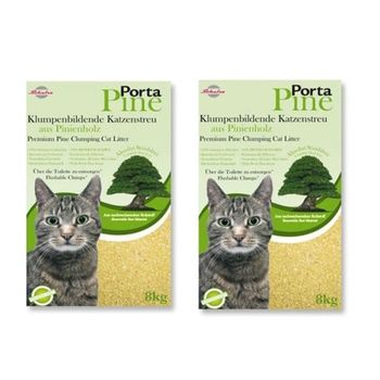 【Porta Pine】德國保羅 天然結團松木木屑砂/貓砂 8公斤 X 2包