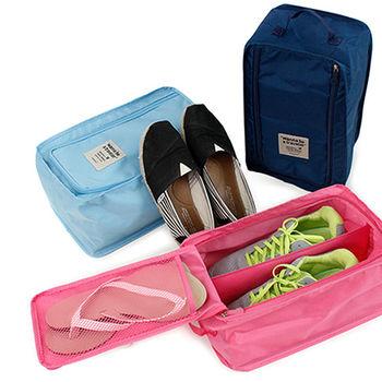 【韓版】wanna be a traveler 便攜式旅行鞋袋(2色)