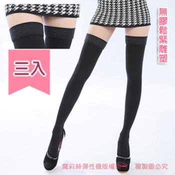 【魔莉絲】中重壓360DEN西德棉無膠免過敏大腿襪一組三雙(男女適用/壓力襪/醫療襪/防靜脈曲張襪)
